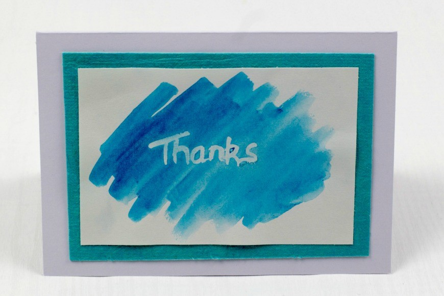 Simple Kid Made Thank You Card