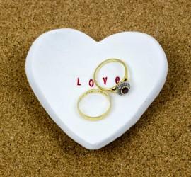 microwave heart shaped ring dish