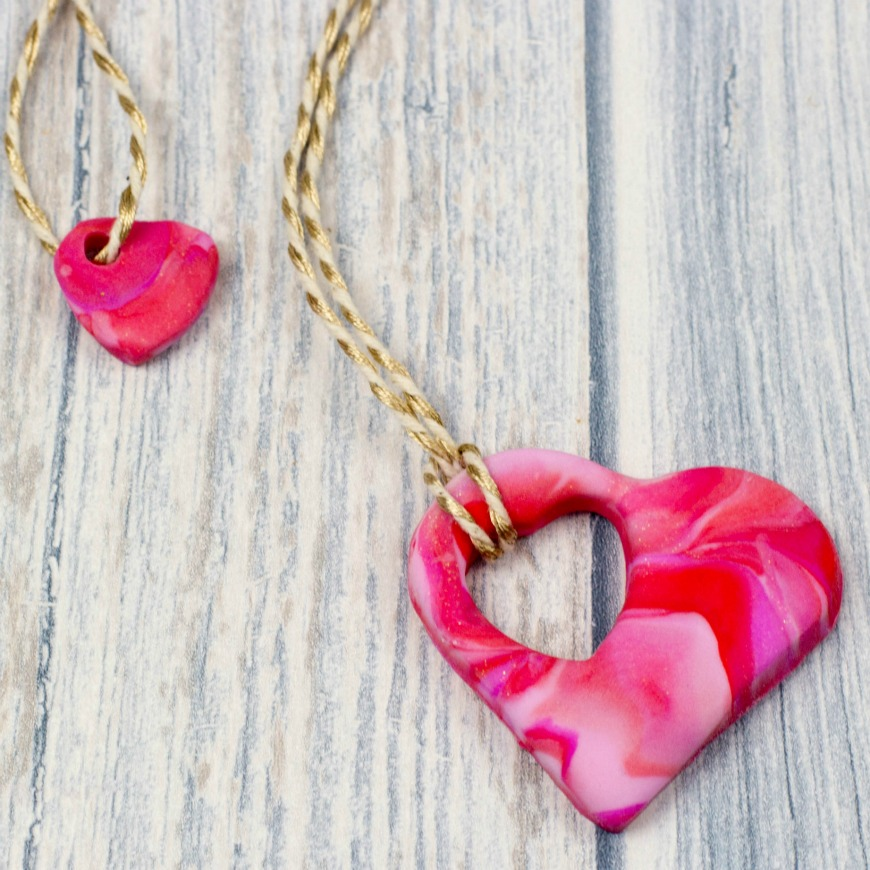 How To Make A Mother And Child Heart Necklace Mum In The Madhouse