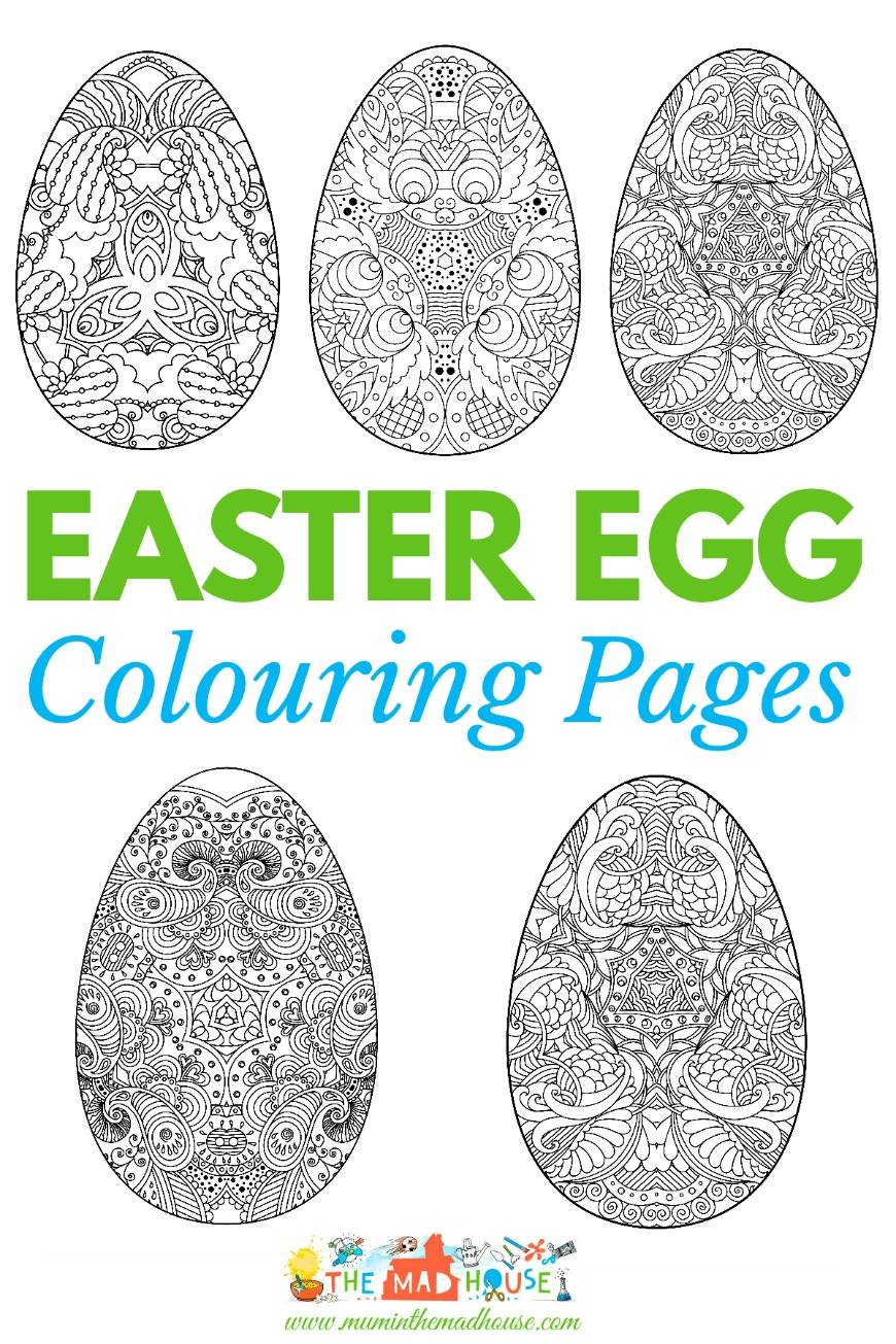 easter colouring pages intricate eggs mum in the madhouse