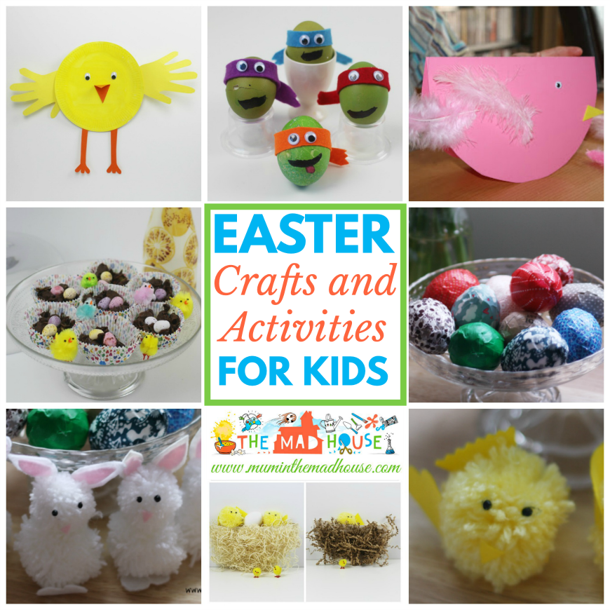 Easter Crafts, Activities and Food for Kids - Looking for Easter crafts, activities and food for families? Well, look no further I have a complete resource of them all in one place for you, including DIY Crafts, Easter recipes, Egg Decorating, Cards and simple art activities for kids