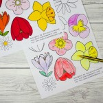 Free flower colouring page for adults