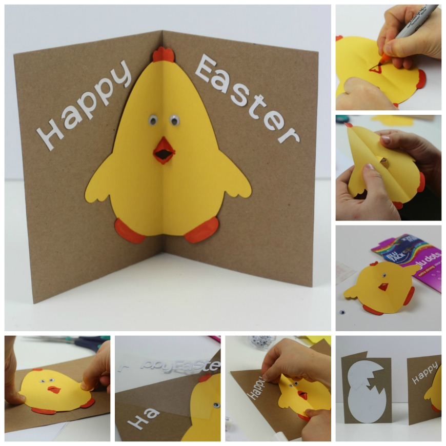 Ideas For Making Easter Cards Part - 16: How Cute Is This Easter Chick Card With Pop Out Beak. It Is A Fab