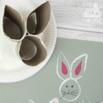Recycled Toilet Roll Easter Bunny Stamp