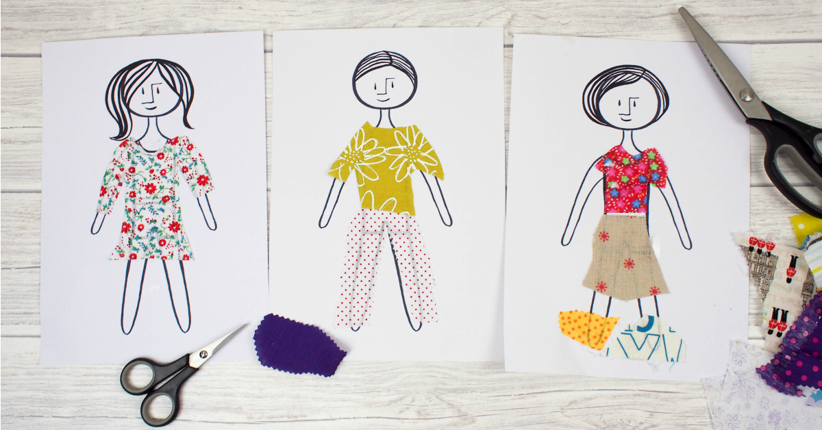 picture about Printable Fabric Paper named S material paper dolls - Mum Within just The Madhouse