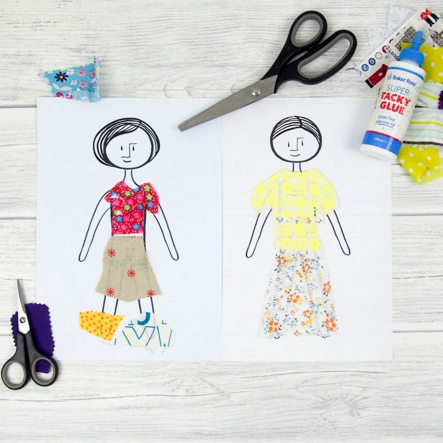 photo relating to Printable Fabric Paper named S material paper dolls - Mum Inside The Madhouse