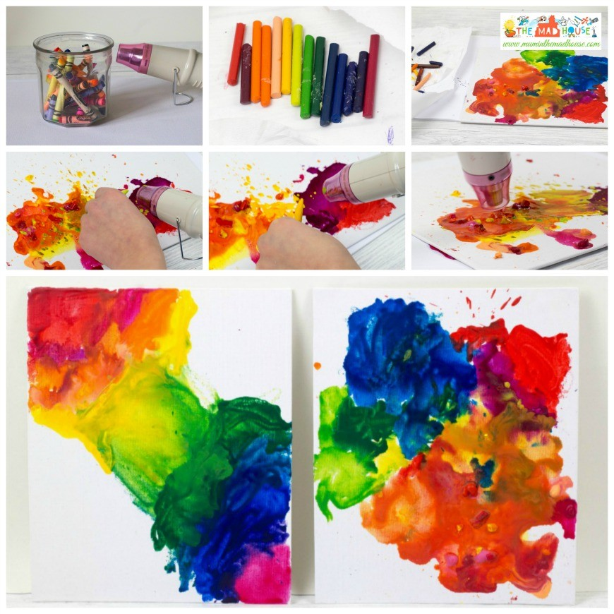 Arts And Crafts With Melted Crayons