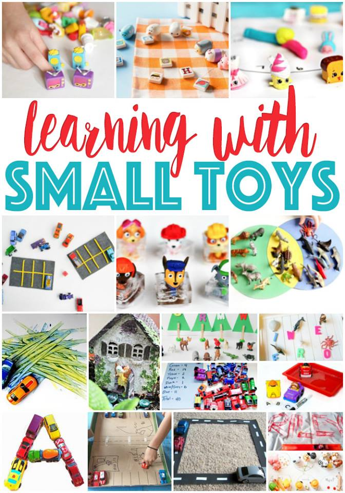 Learning with small toys. Fab ways to integrate your kids favorite small toys in to learning. Play matters, so learn as you play