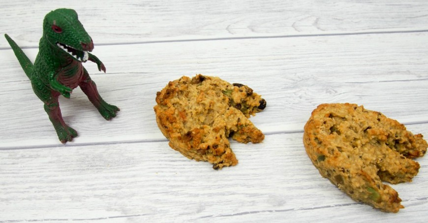 These delicious Dinosaur footprint loaded flapjacks are perfect for healthy breakfasts on the go and are full of nuts and dried fruits.  They are perfect for encouraging kids to eat new things and delicious too.