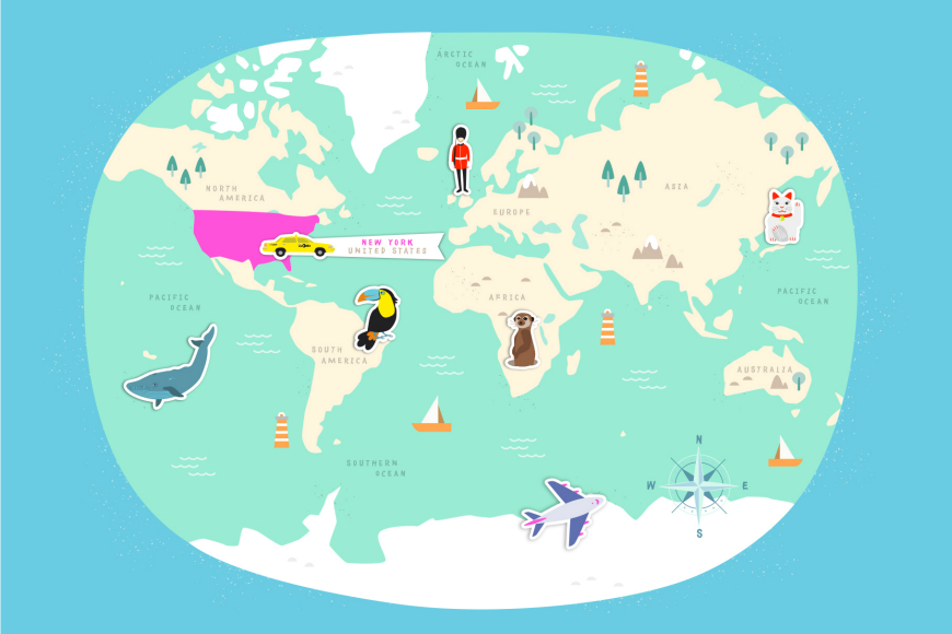 Backpack around the world with Fin & Lou. This fab interactive story book is a brilliant way for kids between three and five to learn about geography.