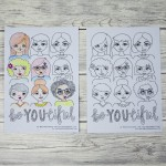 Free Be Beautiful Colouring Page