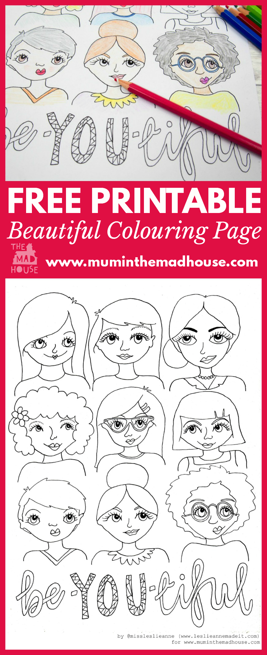 CLICK HERE TO DOWNLOAD YOUR FREE BE YOU TIFUL COLOURING PAGE