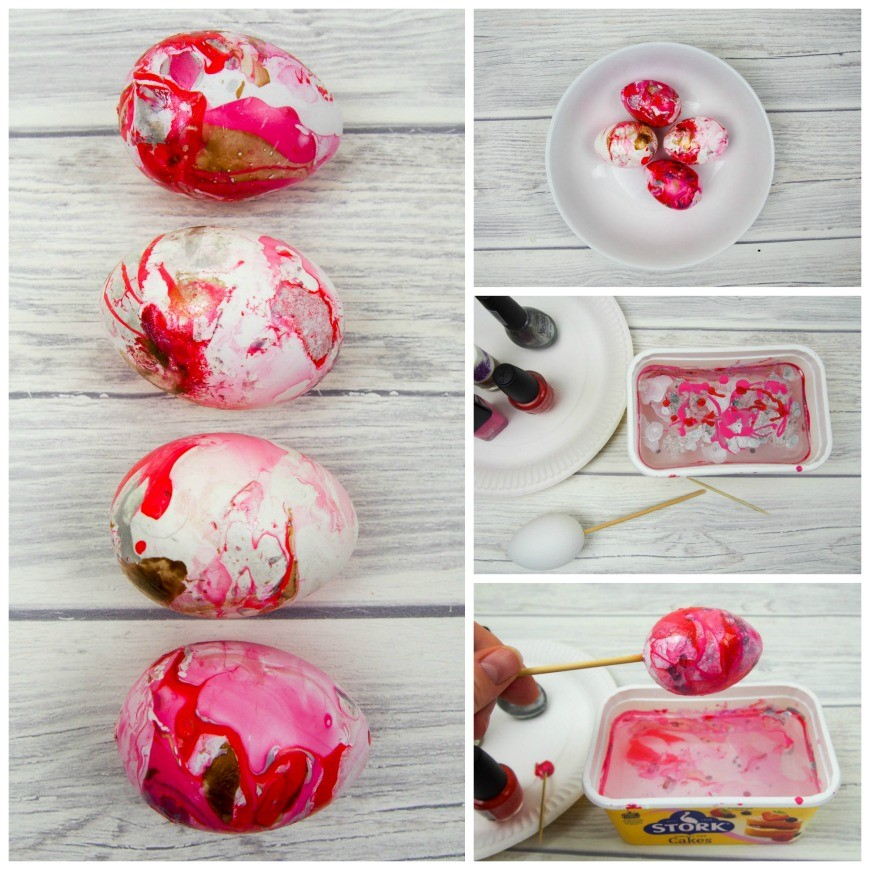 Nail Polish Marble Effect On Glass: How To Marble Eggs With Nail Varnish