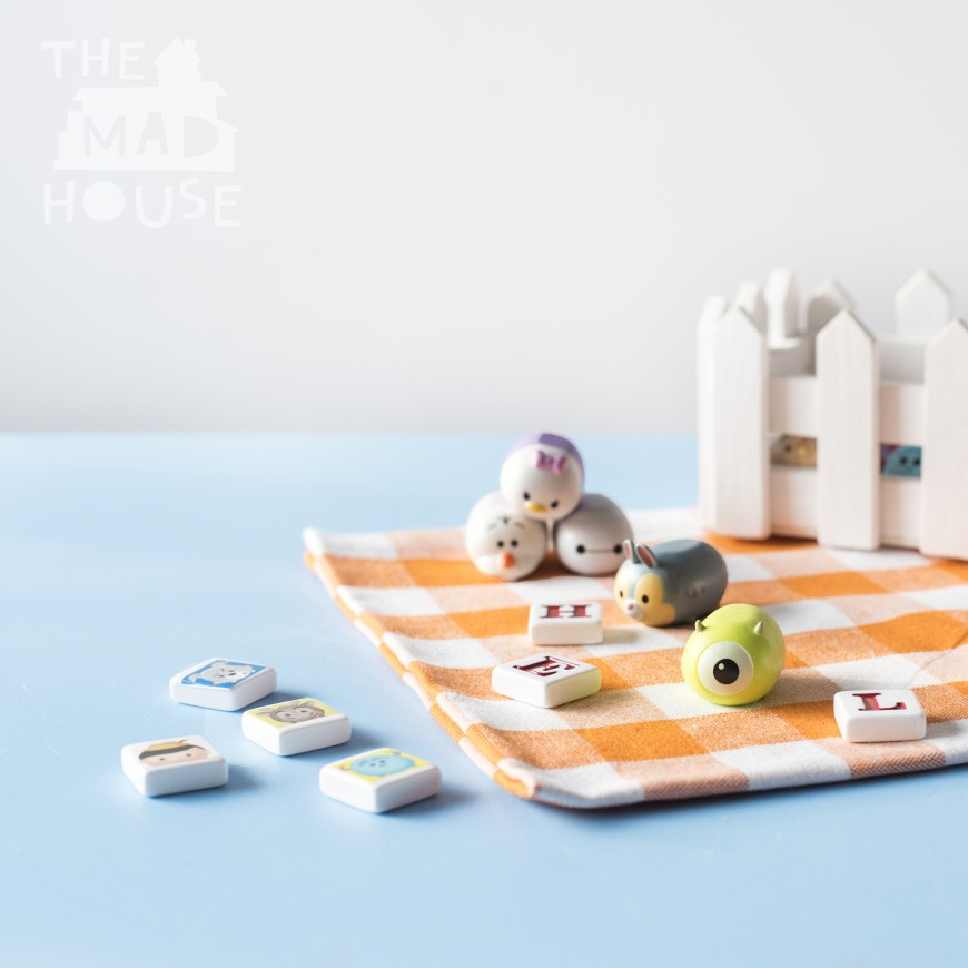 A fun simple DIY phonics game with Disney Tsum Tsums. This homemade kids phonics games is simple to put together using what you have at home and you can adjust it to use your child's favorite small toys such as Shopkins, fungus amungus. This is a super way to learn whilst playing.