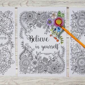 Believe in yourself colouring pages