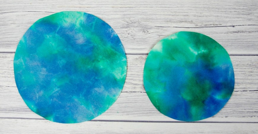 Bleeding Tissue Paper Rain craft for Earth Day