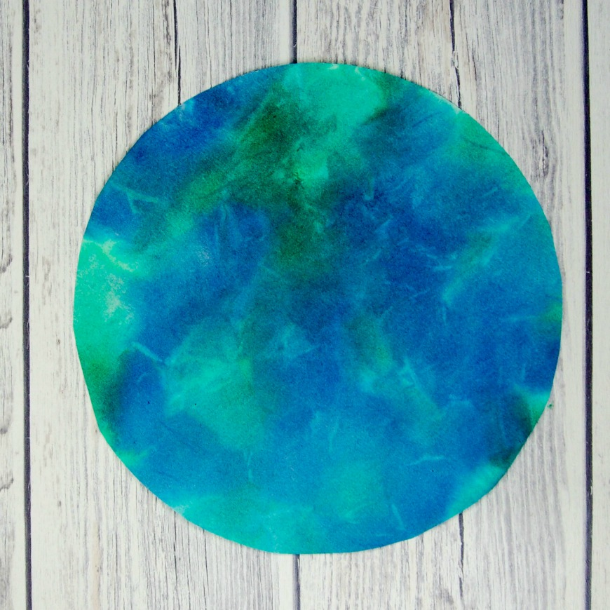 Bleeding Tissue Paper Rain Art for Earth Day - Mum In The Madhouse
