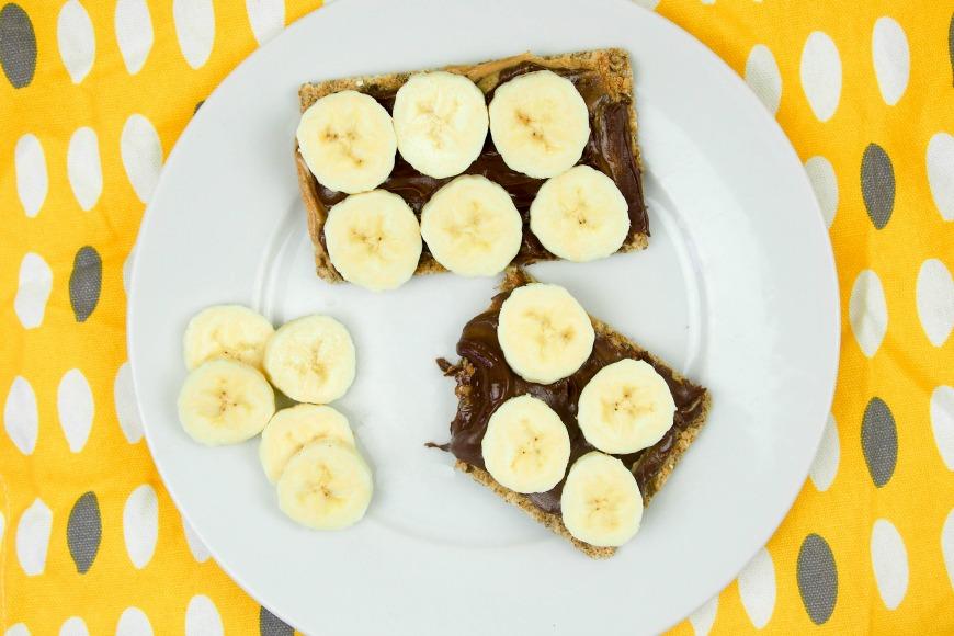 Peanut, chocolate and Banana Chrispbreads