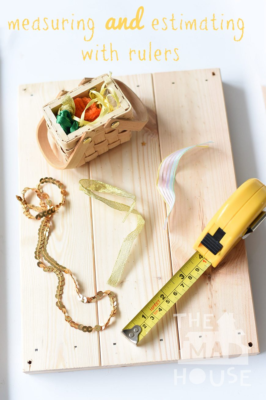Measuring and Estimating with Ribbons. Children love using tape measures and rulers and this fun activity is a great introduction to estimating and sequencing