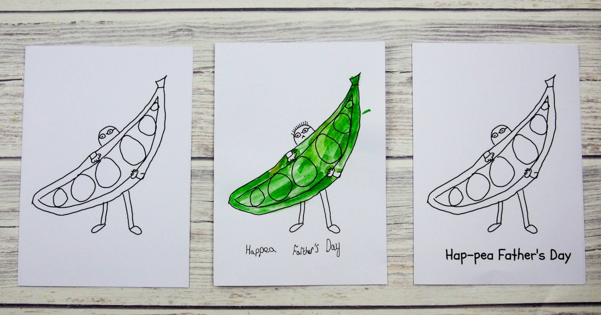 simple father s day card hap pea father s day mum in the madhouse