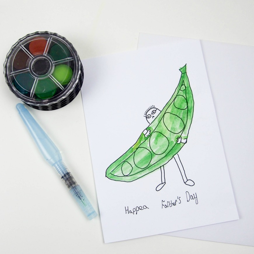Make Sure You Wish Your Dad A Hap Pea Fathers Day With Our Simple