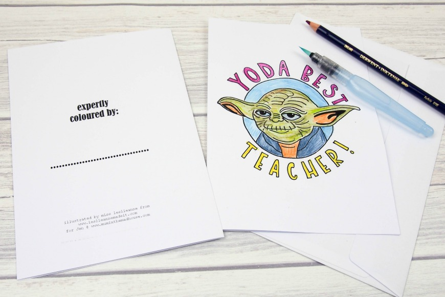 Yoda Best Teacher Card - Mum In The Madhouse