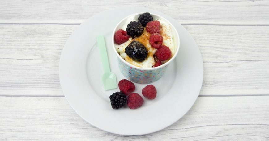 This Yoghurt and Berry Crunch is perfect for encouraging your kids in the kitchen and it is simple and delicious. Adapt the fruits for your taste or time of the year