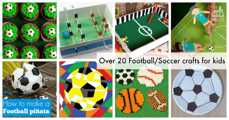 Football crafts or soccer crafts mum in the madhouse for Football crafts for preschoolers