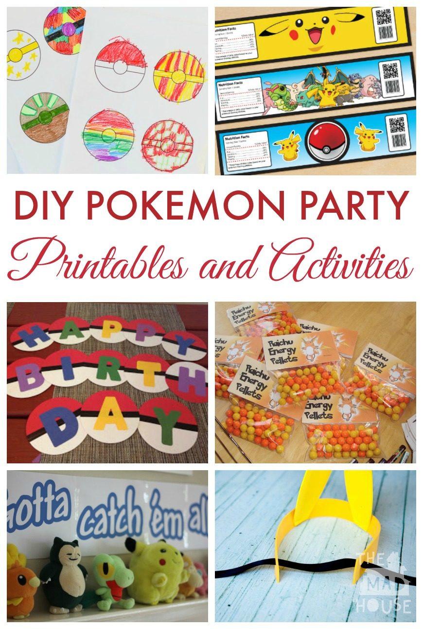 graphic about Printable Pokemon Party Games named Do it yourself Pokemon Bash Programs - Mum Within The Madhouse