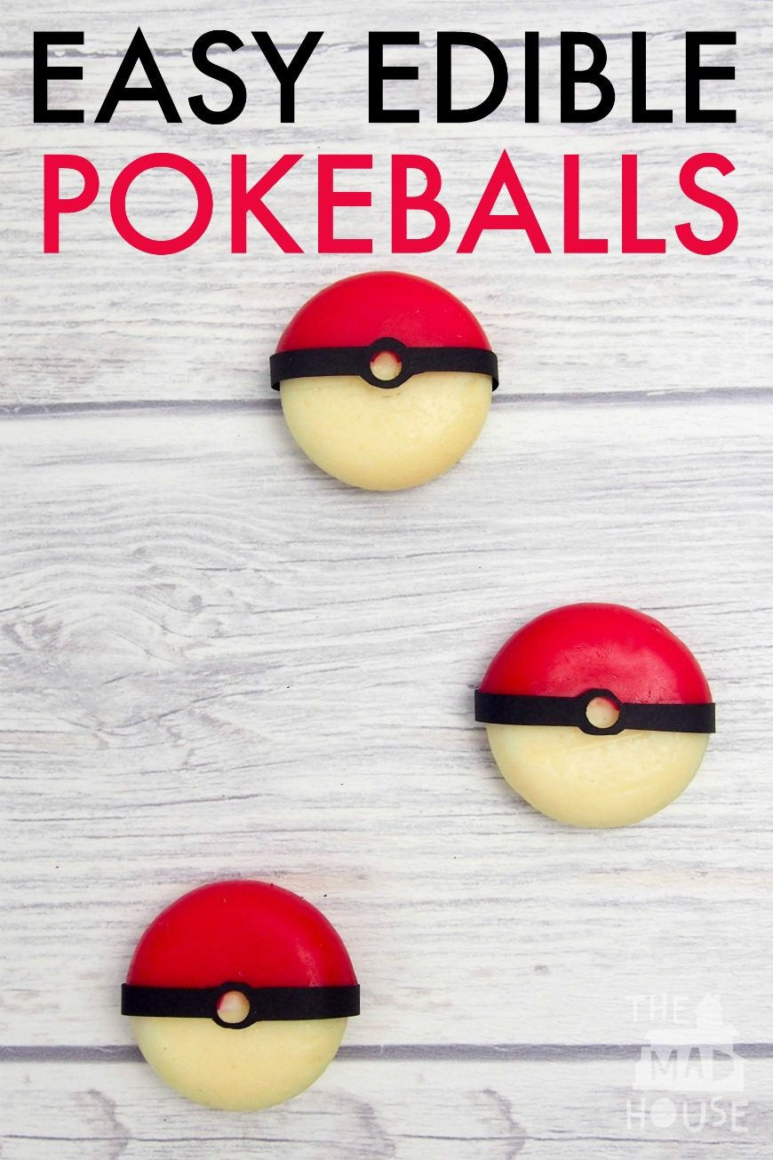 Easy Edible Pokeballs