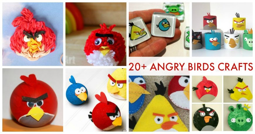 Over 20 Angry Birds Crafts and Activities for Kids facebook