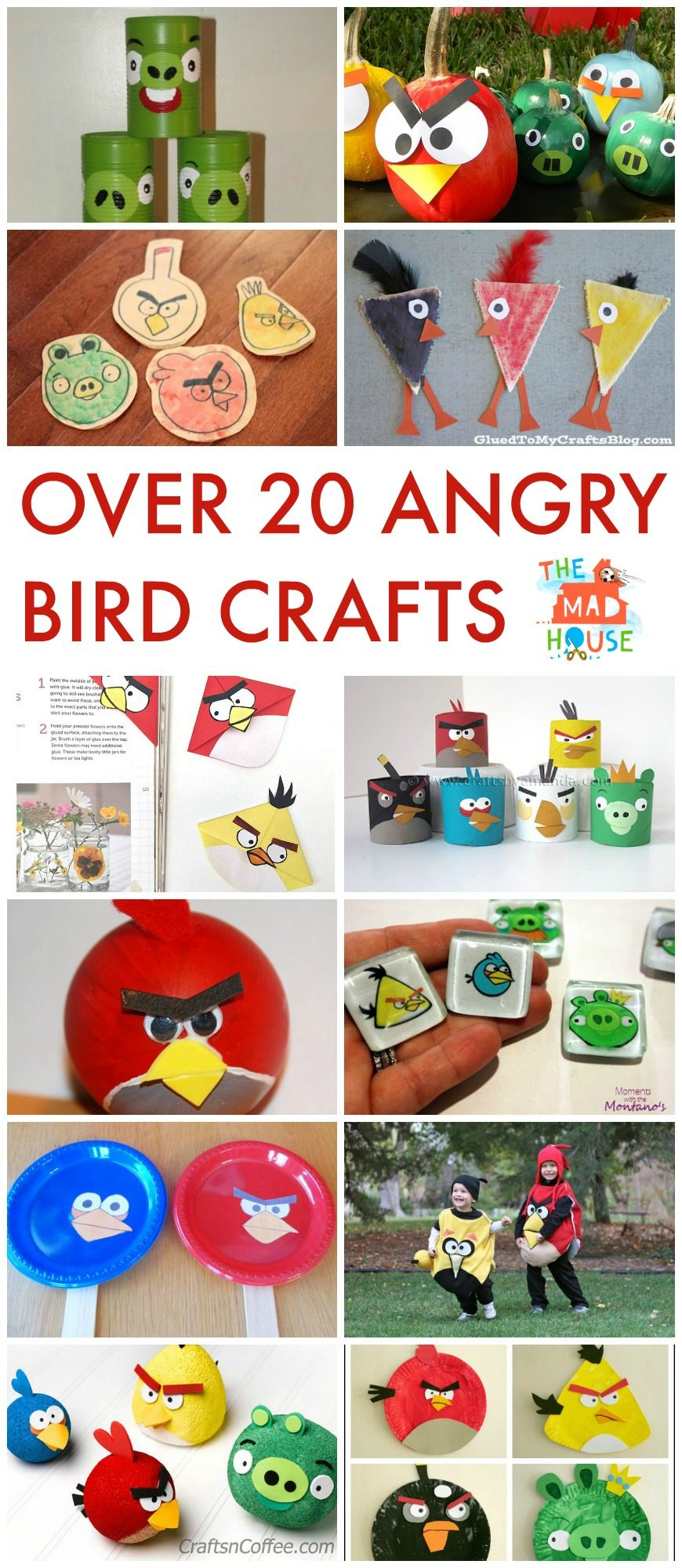 Over 20 Angry Birds Crafts and Activities for Kids.  Children will adore this selection of Angry Bird Activities and crafts.