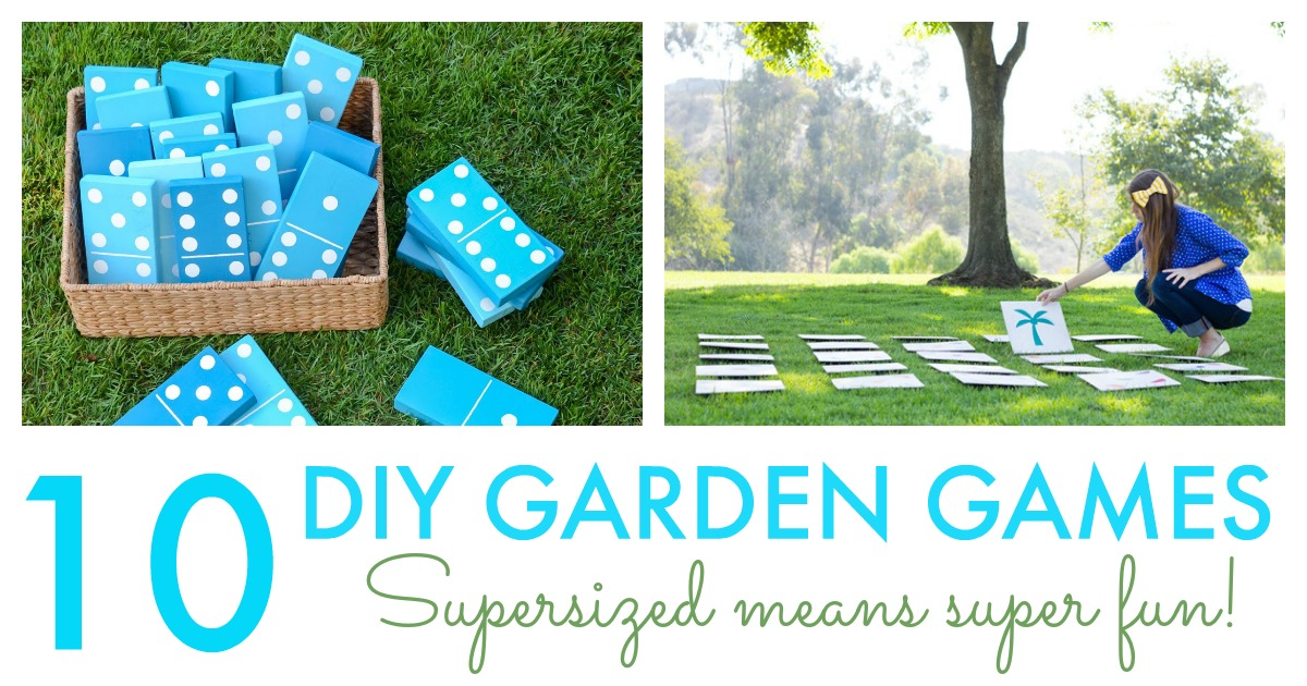10 DIY Giant Garden Games