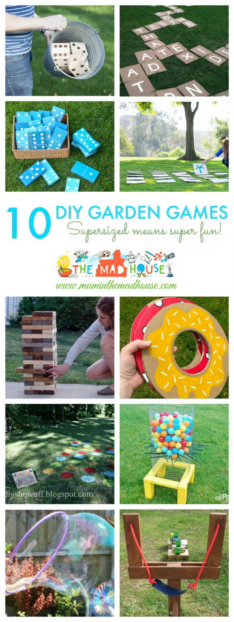 10 diy giant garden games mum in the madhouse for Garden design game