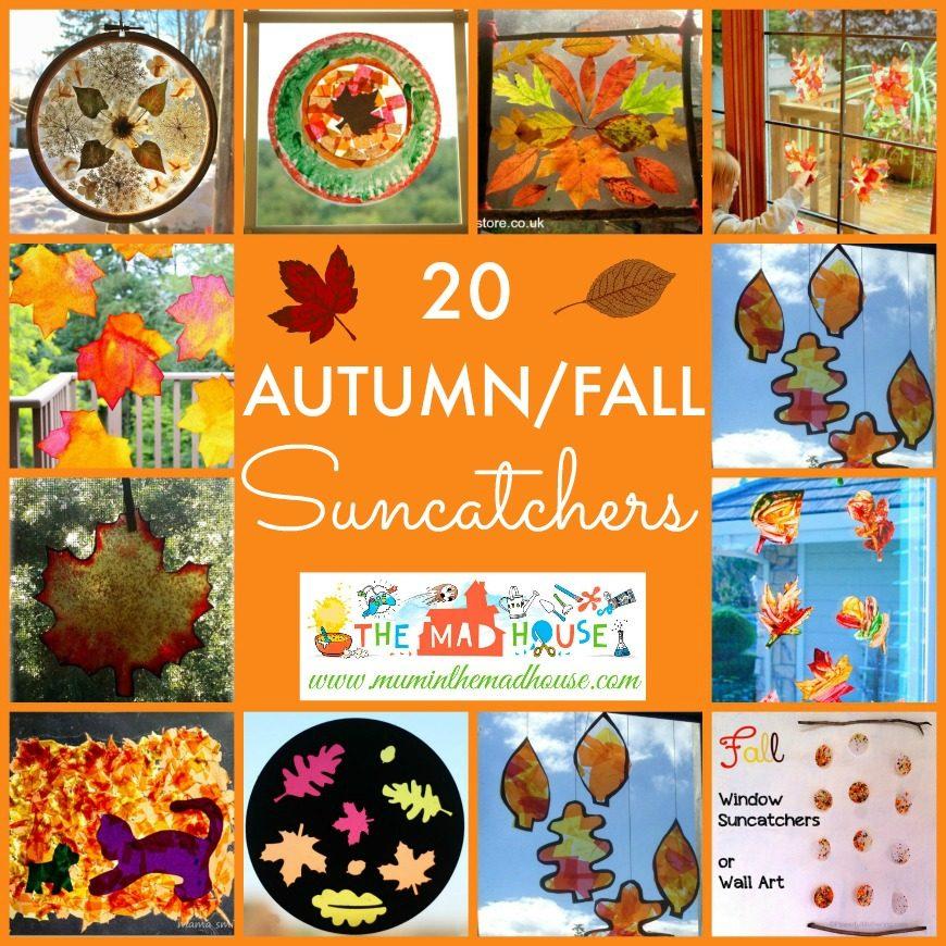 20 Kid made Autumn Suncatchers