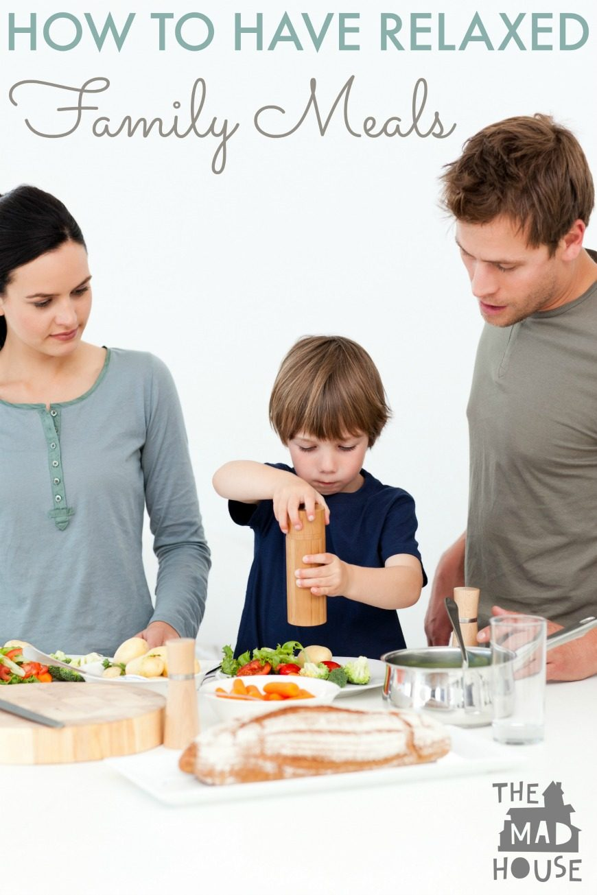 How to have relaxed family mealtimes