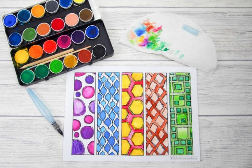 DIY colouring page bookparks