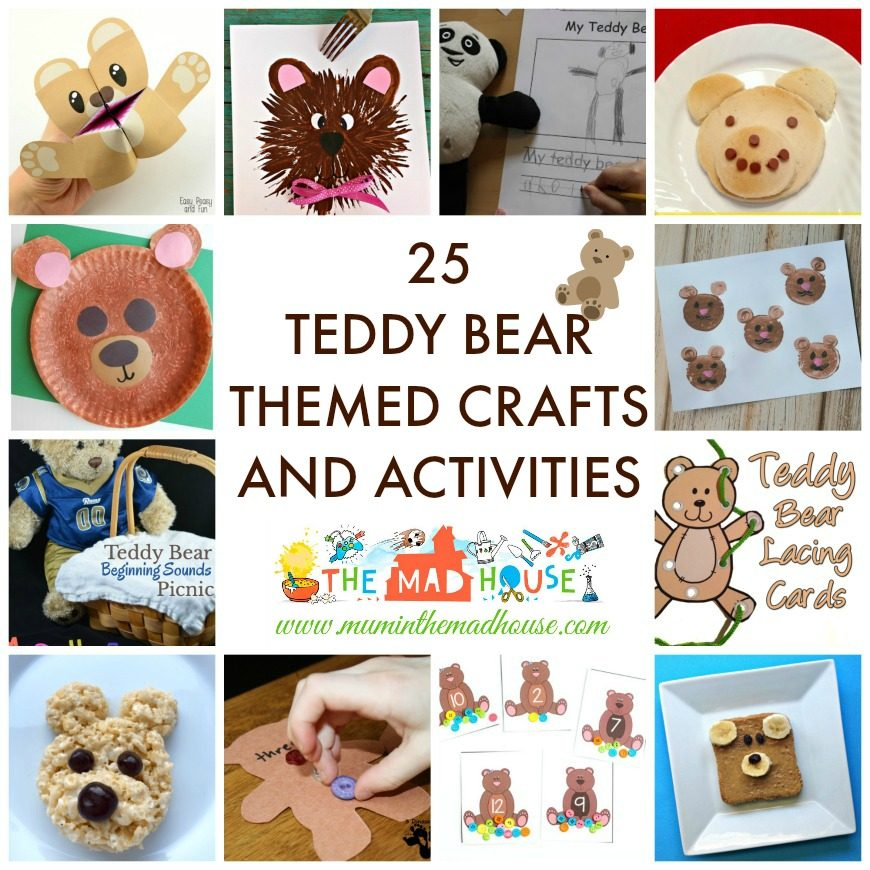 Activities Crafts Games: 25 Teddy Bear Themed Crafts And Activities
