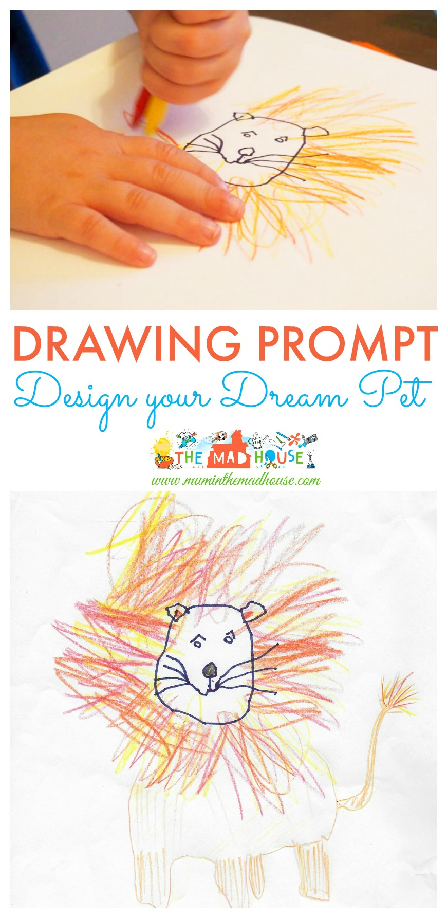 Design a Dream Pet - A simple drawing prompt - Mum In The