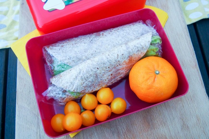 For lunchboxes we wrap these in clingfilm when rolled.