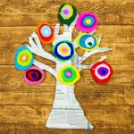 Kandinsky Inspired Tree made with Felt Scraps
