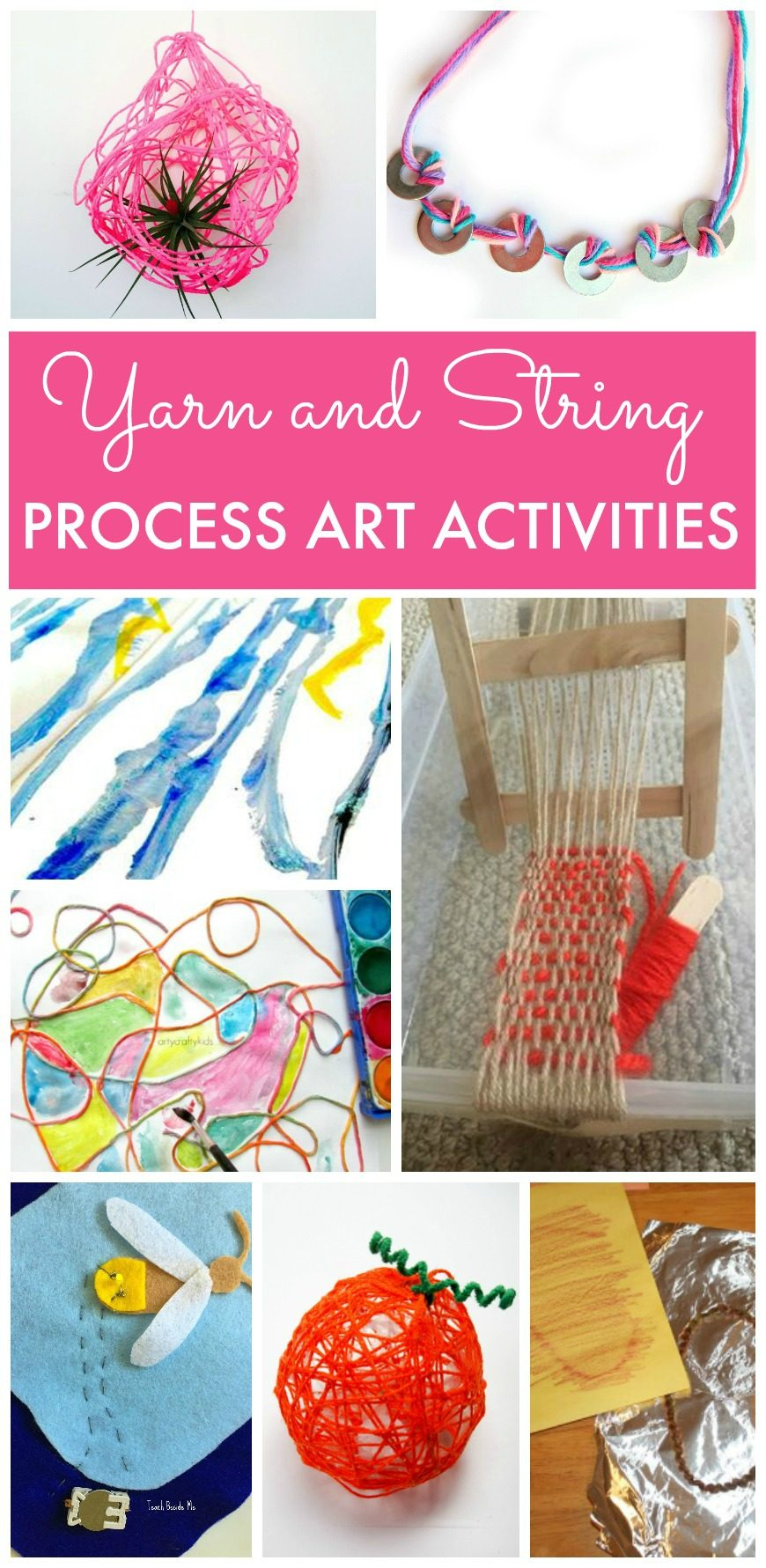 Yarn and String Process Art Activities for kids