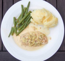 Creamy Leek and Mustard Chicken