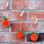 Pom pom pumpkin garland