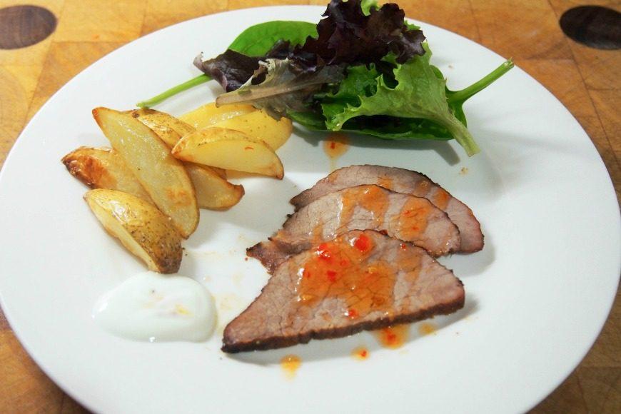 Piri Piri Beef and Wedges