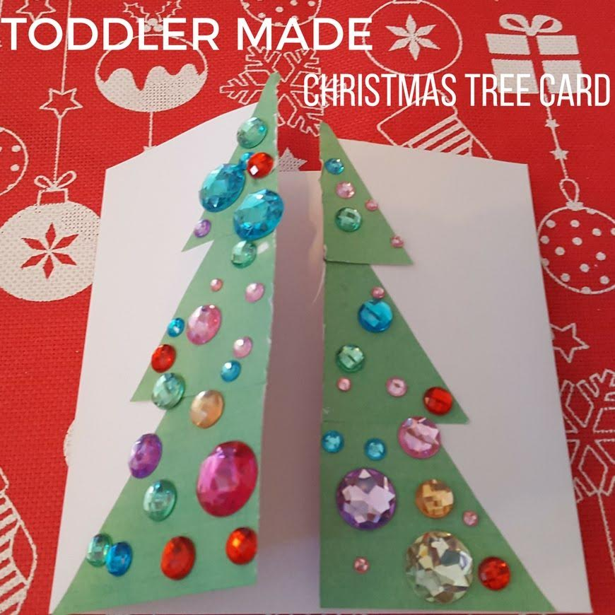 Toddler Christmas Tree Craft.Kid Made Christmas Card Series Mum In The Madhouse