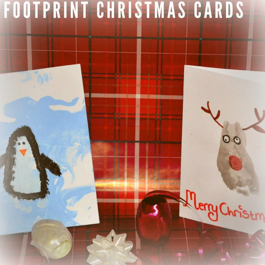 Penguin Christmas Cards Footprint.Kid Made Christmas Card Series Mum In The Madhouse