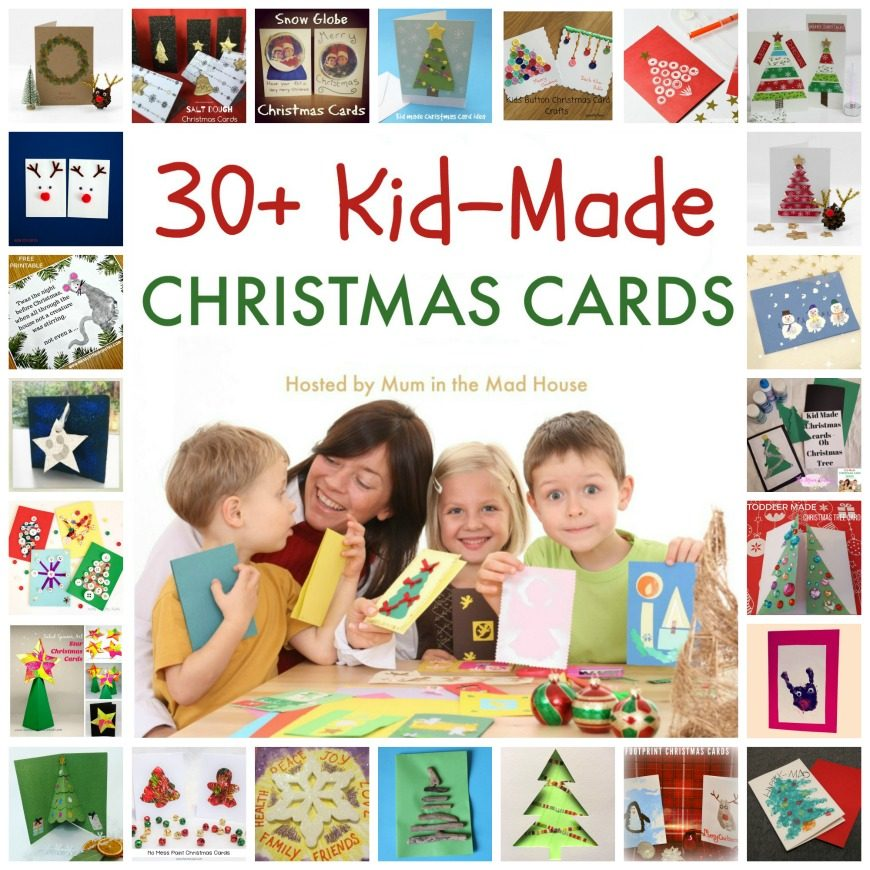 Over 30 kid-made christmas cards. A super selection of christmas cards that are perfect for kids of all ages to make.