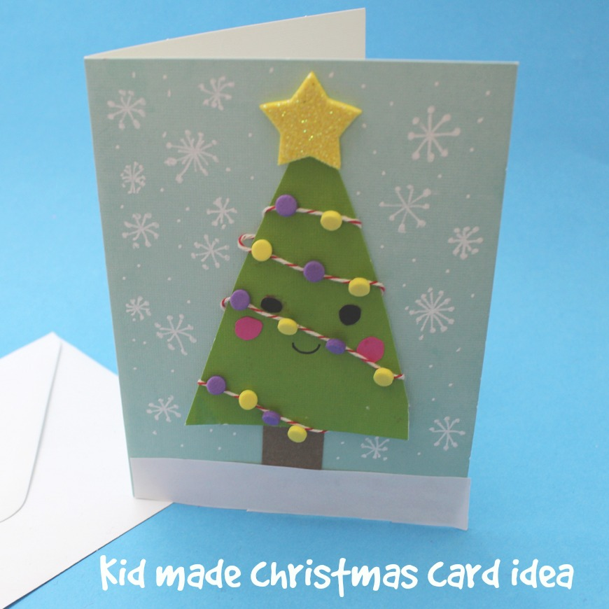 Kid Made Christmas Card Series Mum In The Madhouse