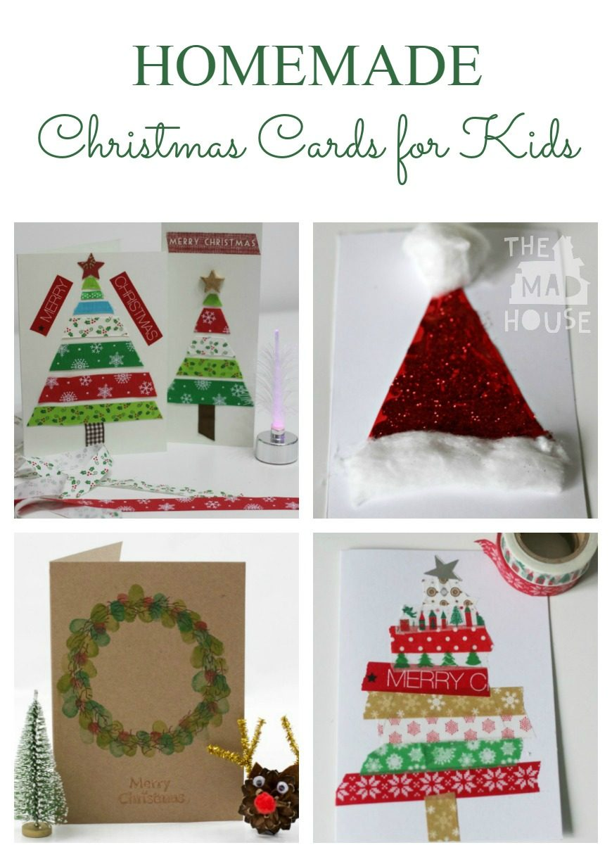 Homemade Christmas Cards for Kids - In a world where fewer people send cards, the act of sending a homemade Christmas card can mean so much.  Even more so when it is made by children.